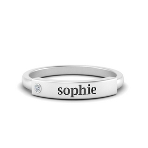 Personalized Diamond Promise Ring