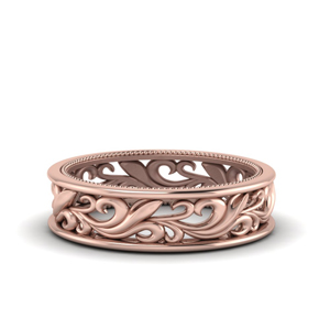 Milgrain Wedding Band For Women