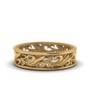 Women Filigree Band In Gold