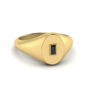 Gold Black Onyx Signet Ring