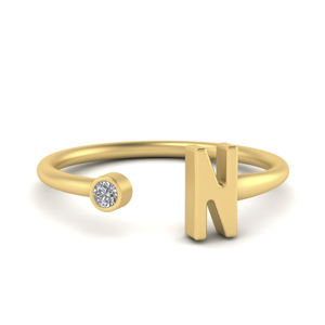 14K Yellow Gold Open Ring