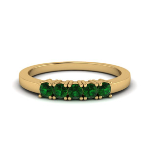 Emerald Band In 18K Gold