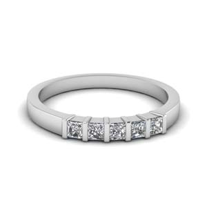 5 Stone Women Wedding Band