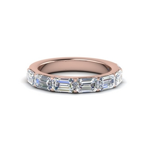 14K Rose Gold Horizontal Band