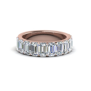 14K Rose Gold Half Eternity Band