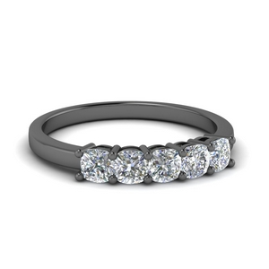 Cushion Cut Five Stone Diamond Ring
