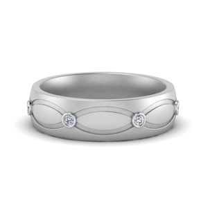 Diamond Infinity Wedding Band