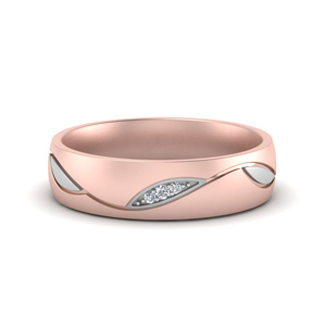 2 Tone Women Diamond Bands