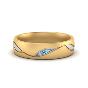Two Tone Wedding Band For Her