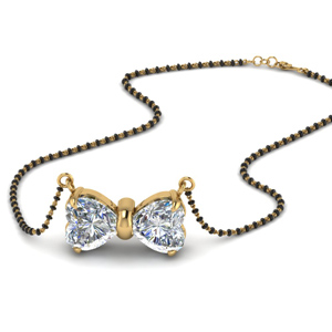 Heart Diamond Mangalsutra For Women