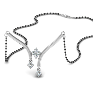 Floating Diamond Necklace Mangalsutra