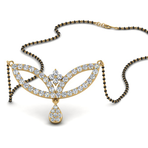 Wings Diamond Mangalsutra Pendant