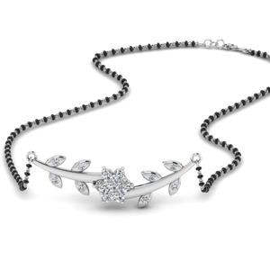 Diamond Leaves Design Mangalsutra