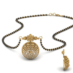 Antique Nature Inspired Wati Mangalsutra