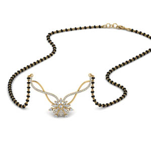Diamond Flower Mangalsutra