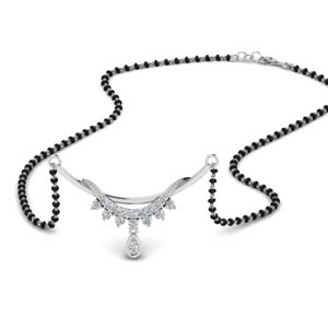 Short Diamond Pendant Mangalsutra