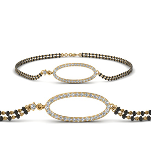 Oval Shaped Mangalsutra Bracelet Gold