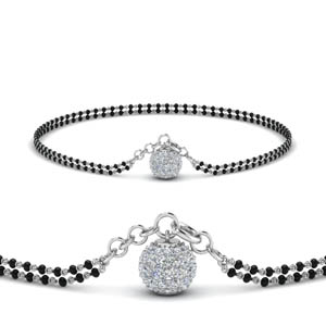 Diamond Ball Drop Mangalsutra Bracelet