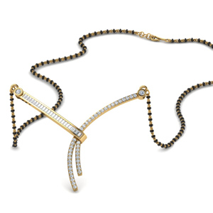 Non Traditional Baguette Diamond Mangalsutra