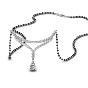 Mangalsutra Necklace WIth Pear Diamond