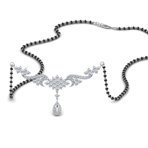 Beautiful Diamond Necklace Mangalsutra
