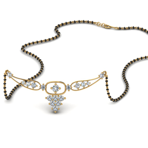 Floating Diamond Pendant Beautiful Mangalsutra