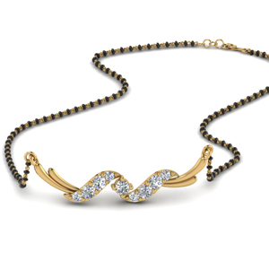 Twisted Diamond Mangalsutra