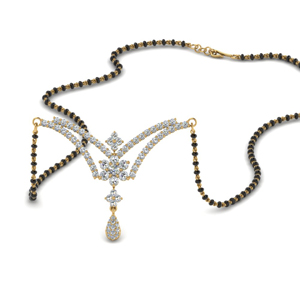 Beautiful Flower Diamond Mangalsutra