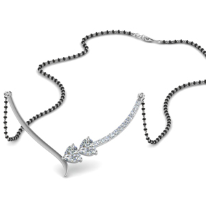 Heart Diamond Chain Mangalsutra