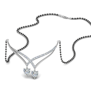 Double Heart Diamond Mangalsutra