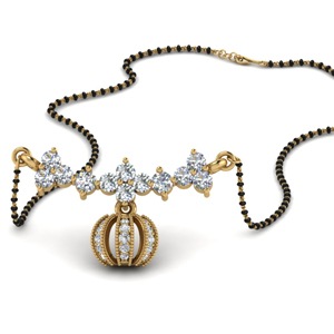 Necklace MangalsutraPave Diamond