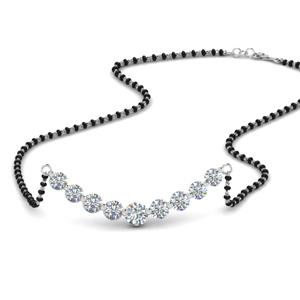 Graduated Diamond Mangalsutra Necklace