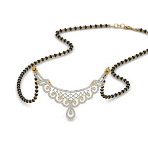Beautiful Diamond Vintage Mangalsutra