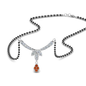 floral-drop-diamond-mangalsutra-necklace-with-orange-sapphire-in-MGS8960GSAOR-NL-WG