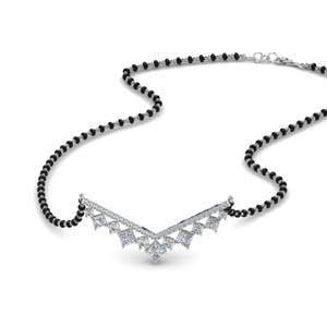 Diamond V Shaped Bar Mangalsutra