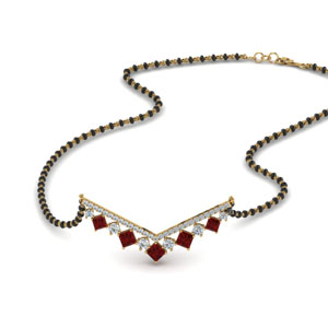Beautiful Kite Set Bar Ruby Mangalsutra