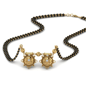 Gold Diamond Mangalsutra With Vati