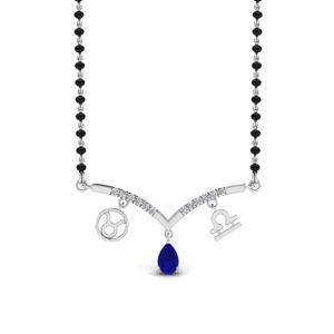 Sapphire Mangalsutra With Zodiac Sign