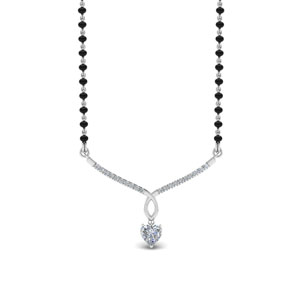 Heart Diamond Drop Mangalsutra
