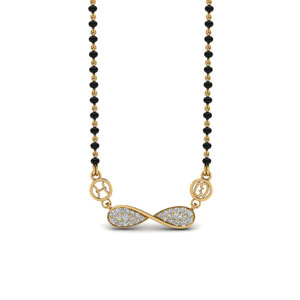 Infinity Diamond Mangalsutra Sun Sign