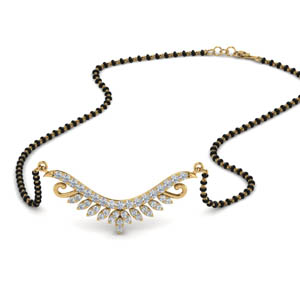 Beautiful Diamond Beads Mangalsutra