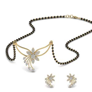 flower-design-diamond-mangalsutra-and-earring-set-in-MGS9073-NL-YG