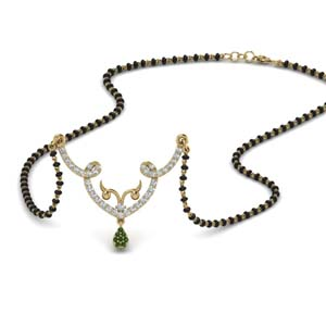 unique-diamond-mangalsutra-pendant-with-emerald-in-MGS9074GEMGR-NL-YG