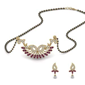 beautiful-diamond-mangalsutra-earring-set-with-pink-sapphire-in-MGS9077GSADRPI-NL-YG