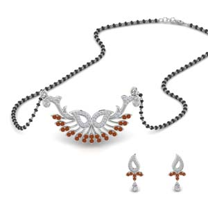 beautiful-diamond-mangalsutra-earring-set-with-orange-sapphire-in-MGS9077GSAOR-NL-WG