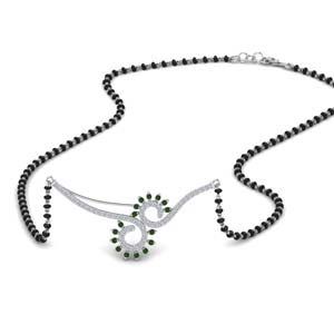 beautiful-black-beads-chain-diamond-mangalsutra-with-emerald-in-MGS9081GEMGR-NL-WG