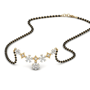Beautiful Diamond Pendant Mangalsutra