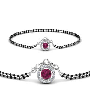 pink-sapphire-halo-drop-mangalsutra-bracelet-in-MGSBRC8999GSADRPIANGLE1-NL-WG