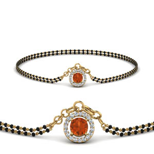 orange-sapphire-halo-drop-mangalsutra-bracelet-in-MGSBRC8999GSAORANGLE1-NL-YG