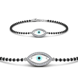 Evil Eye Diamond Mangalsutra Bracelet